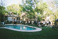 Um dos nossos concertos no SXSW numa pool party.